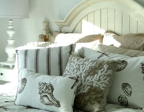 Neutral Coastal Cottage Bedroom