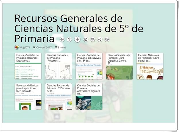 """""""8 Recursos Generales de Ciencias Naturales de 5º de Primaria"""""""
