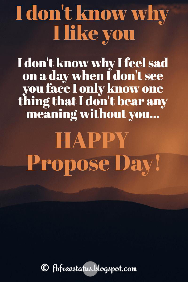 love proposal messages for propose day 2017