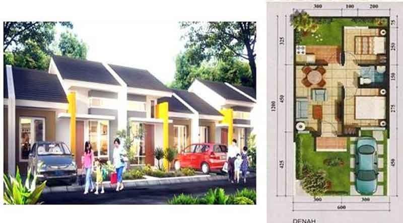 contoh gambar denah rumah btn asri 4