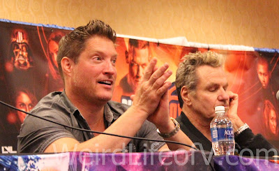 Sean Kenan and Martin Kove at the Karate Kid panel during SuperToyCon 2016