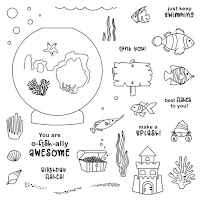 CTMH April Stamp Of The Month - O-fish-ally Awesome