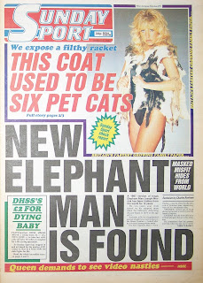Vintage Sunday Sport front page from 2nd August 1987