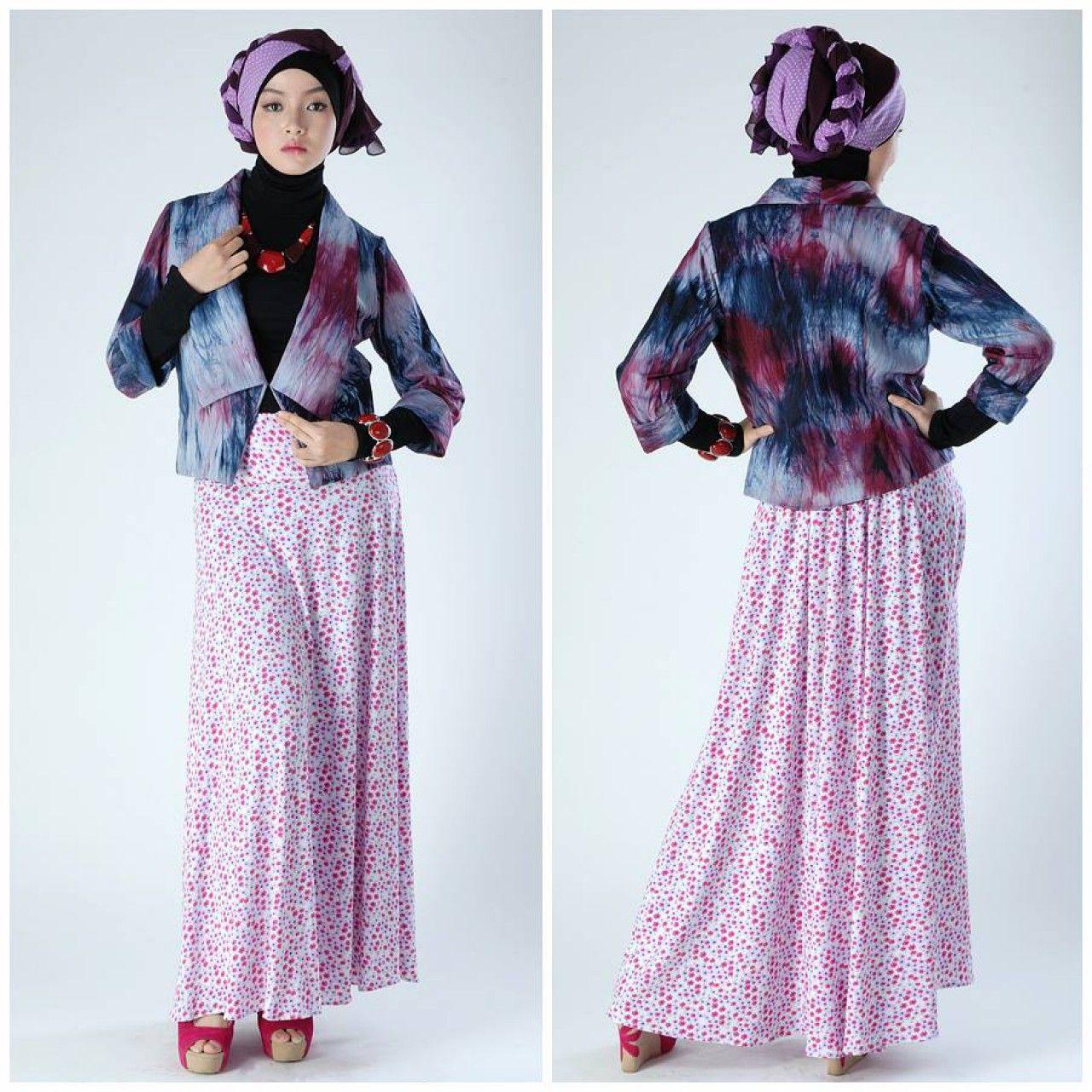 Model baju batik modern tahun ini - Model Baju Batik Setelan Wanita Kombinasi Rok Panjang