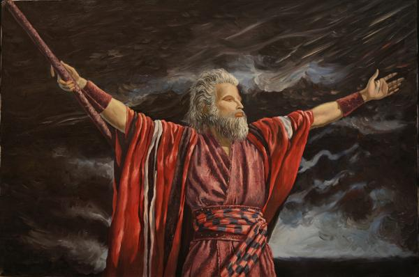 he died for my grins moses parting the red sea