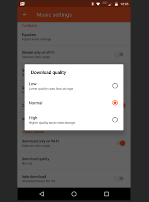 Google Play Music Download Quality