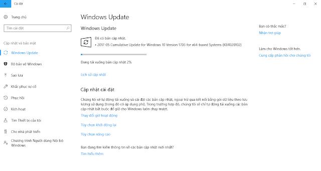 Cập nhật 26 tháng 5, 2017 - KB4020102 cho Windows 10 Phiên bản 1703 (OS Build 15063.332)