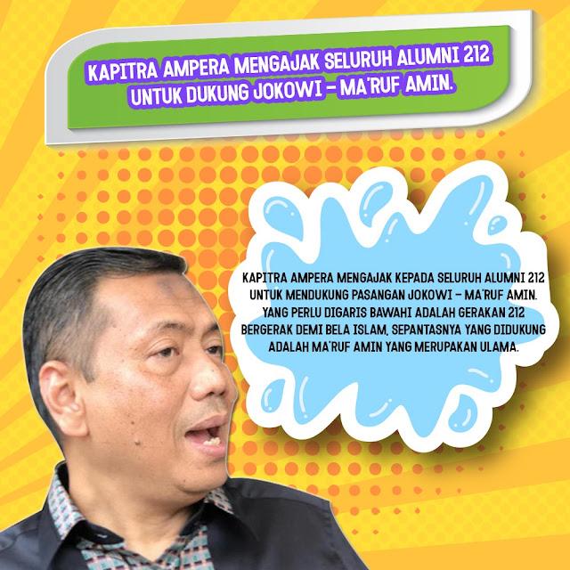 Kapitra Ampera Sebut Alumni 212 Lebih Pantas Pilih Jokowi-Ma'ruf Amin
