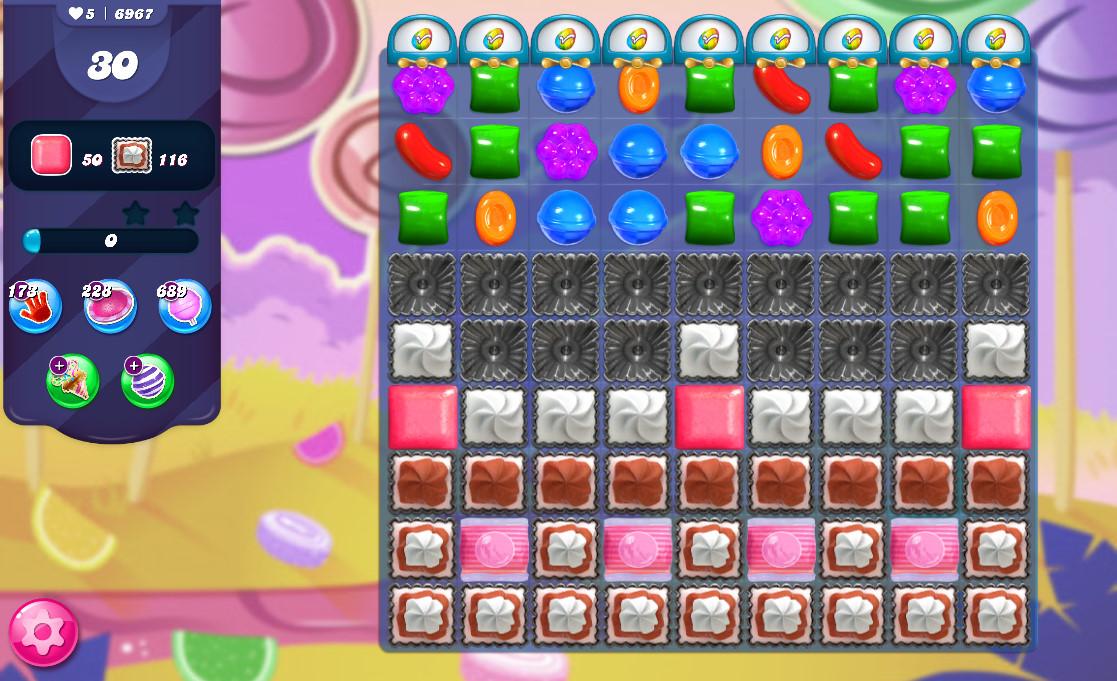 Candy Crush Saga level 6967