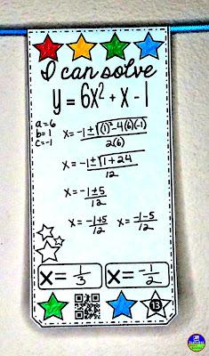 Fun with Quadratics | quadratic formula pennant