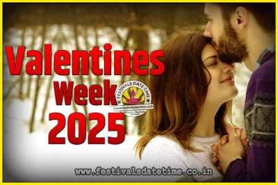 2025 Valentine Week List : 2025 Valentine Week Schedule, Hug Day, Kiss Day, Valentine's Day 2025