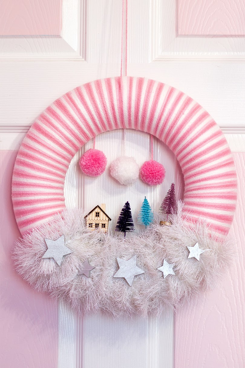 diy christmas scene wreath