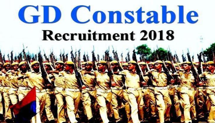 SSC GD Constable 2018-19 Recruitment Apply Online (54593 Vacancies)