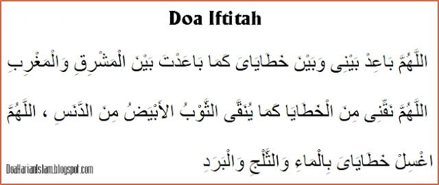 Doa Iftitah merupakan doa dalam shalat yang dibaca sesudah takbiratul ihram sebelum memba Doa Iftitah Muhammadiyah Latin