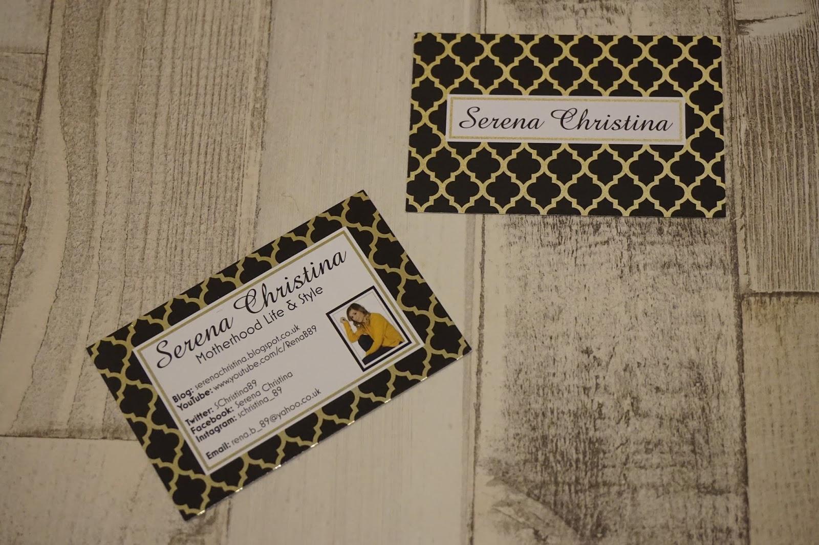 VistaPrint Business Cards   Serena Christina