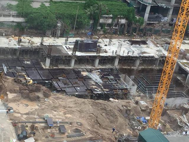 Chung cư Rivera park Hà nội đang trong giai đoạn hoàn thiện 2 tầng hầm