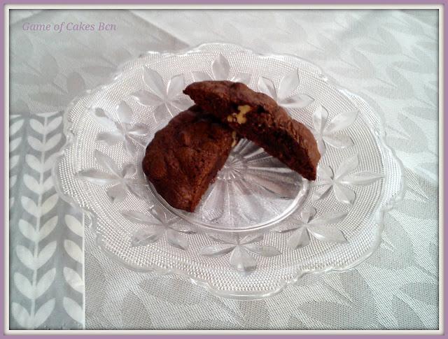 Galleta de chocolate y pecanas