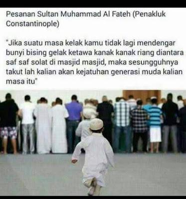 Pesan Sultan Muhammad Al Fateh