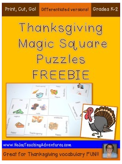 Looking for a last minute game or activity for your Kindergarten, 1st, or 2nd grade students to do this Thanksgiving? This is it! Download, cut, go! Students will love it, and you'll love that they're learning Thanksgiving terminology!!