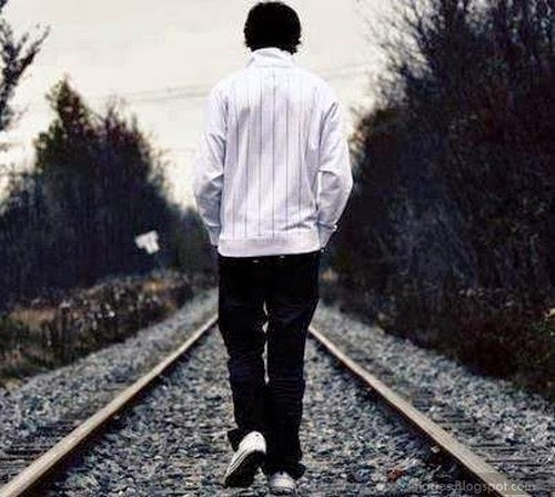 Sad Boy Alone Quotes: Sad Alone Boy Railway Depressing Feelings
