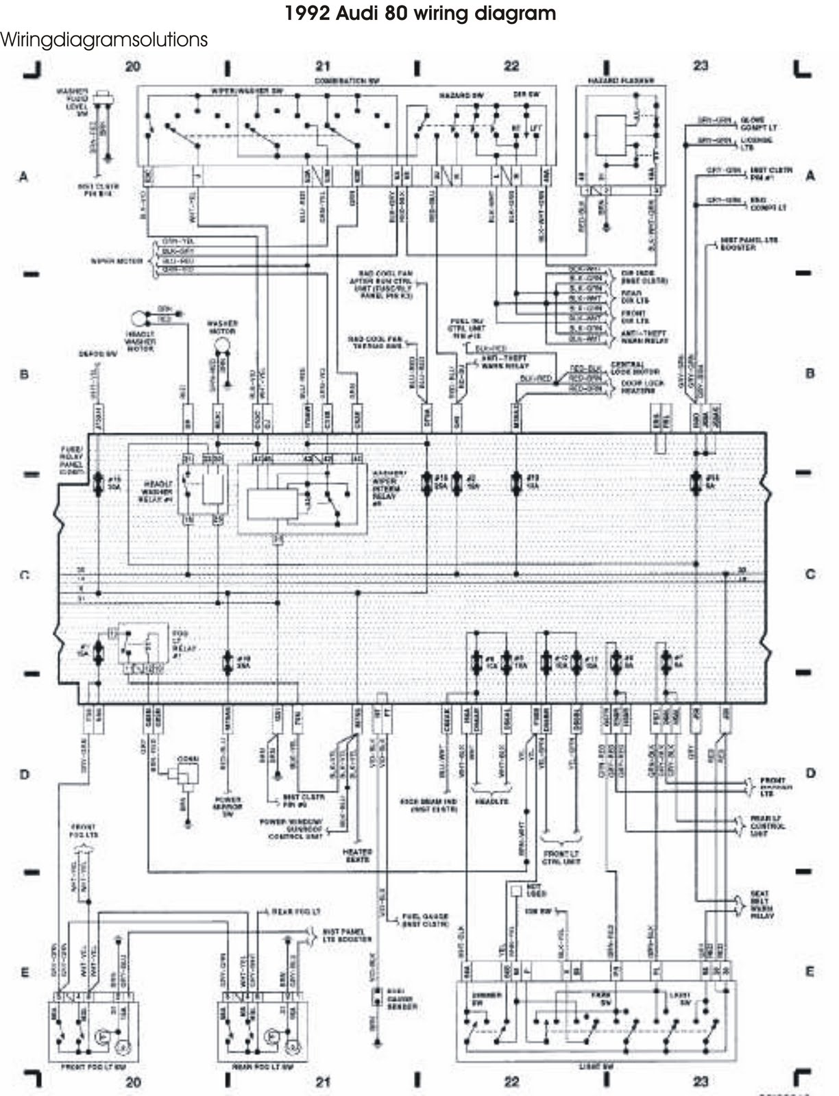 The 1992 Audi 80 Wiring Diagram