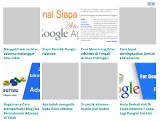 cara memasang iklan post/seperti artikel terkait /matched ads di google adsense keren seo responsive