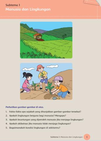Subtema 2 Manusia Dan Lingkungan : subtema, manusia, lingkungan, Kunci, Jawaban, Tematik, Kelas, Subtema, Pembelajaran, Lengkap, Terbaru, SimpleNews