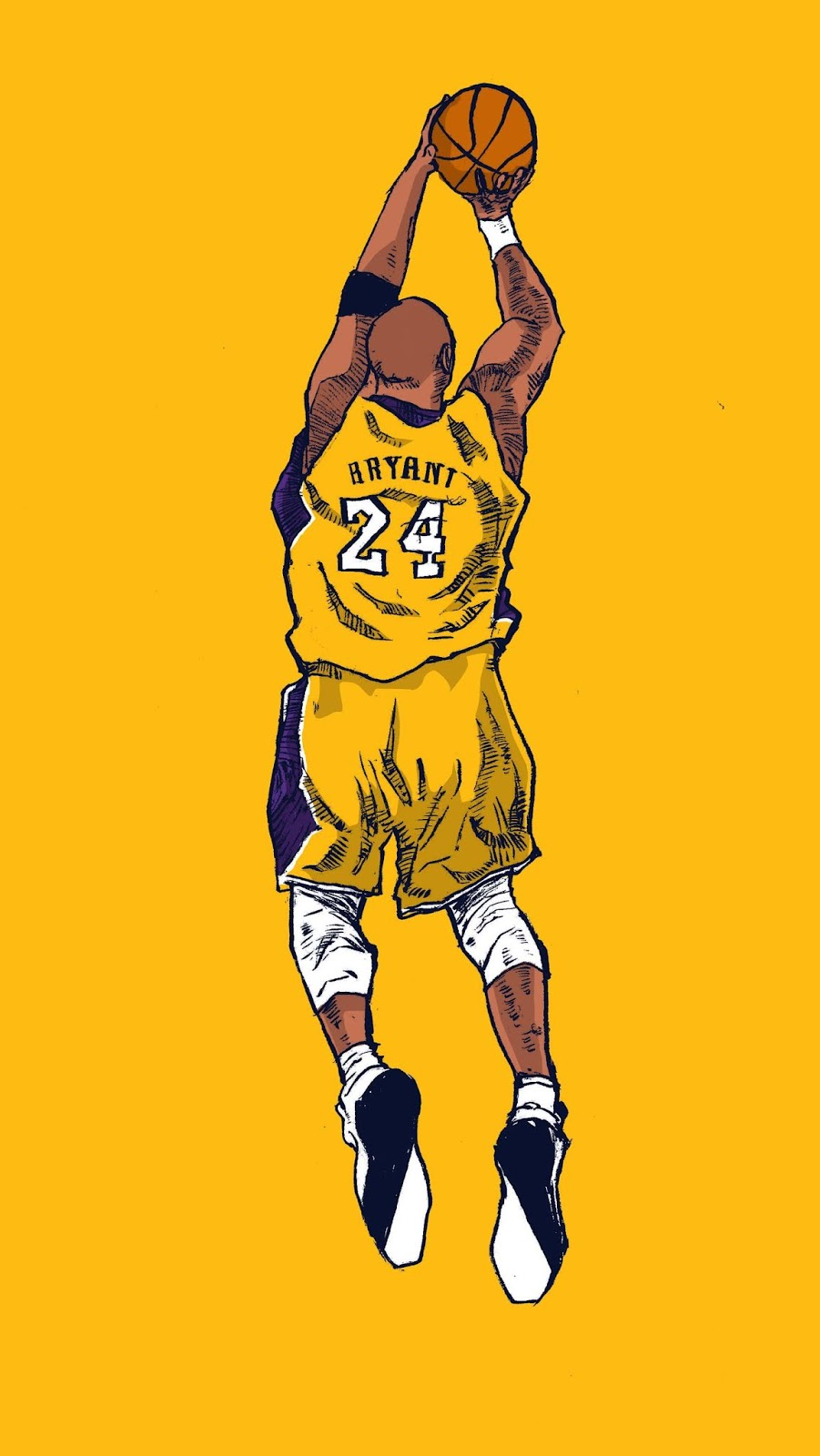 Kobe Bryant Black Mamba Wallpaper Yellow