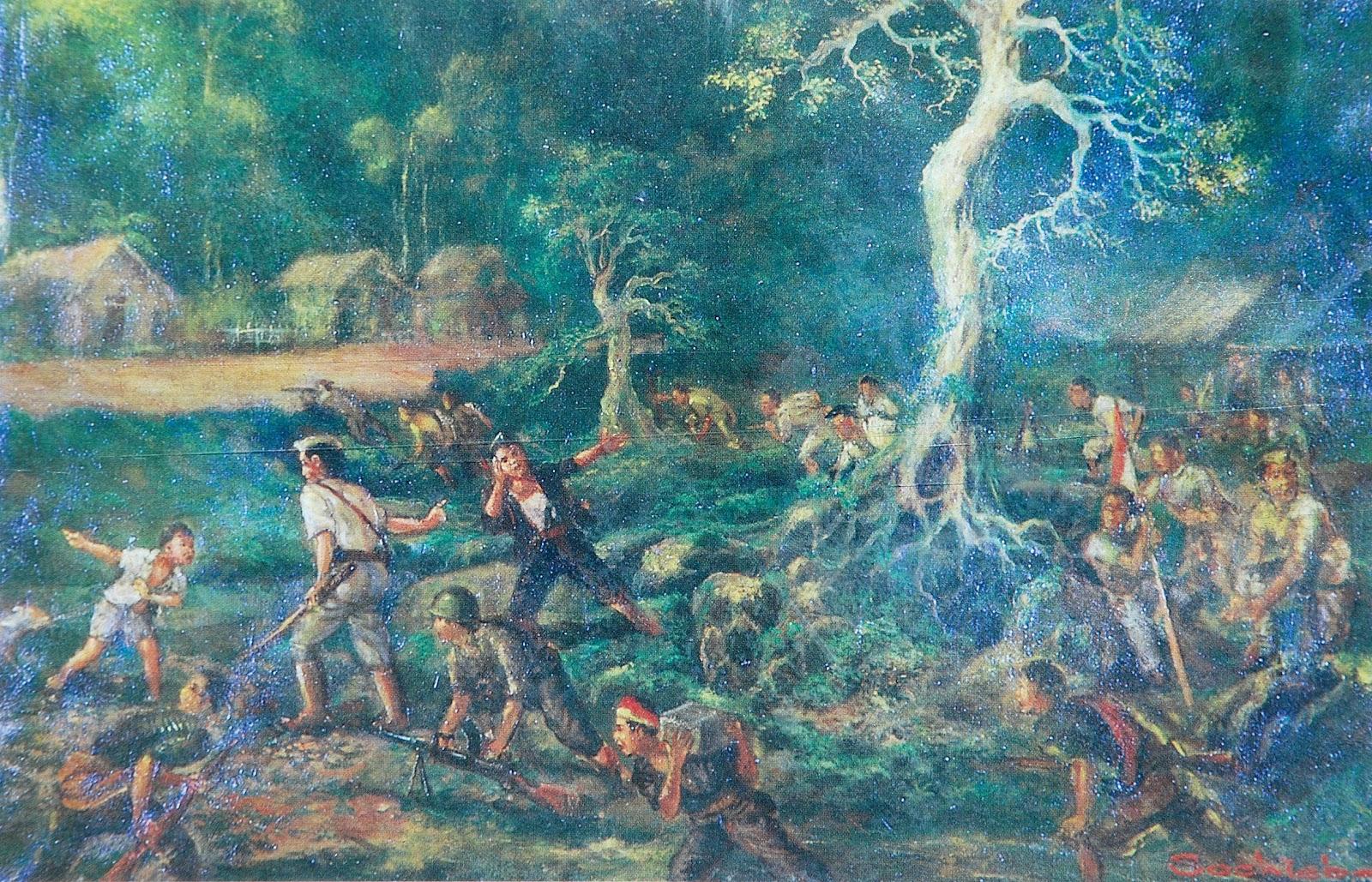 saiin lukisan sejarah perjuangan indonesia