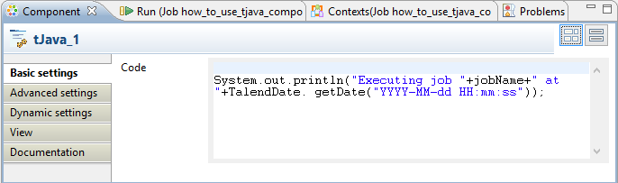 Desired Data: How to tJava component in Talend !!