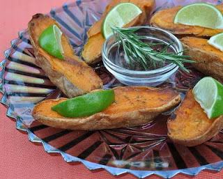 Sweet Potato Wedges with Rosemary & Lime Juice