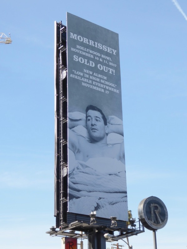 Morrissey Hollywood Bowl billboard