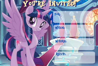 Free My Little Pony Invitations