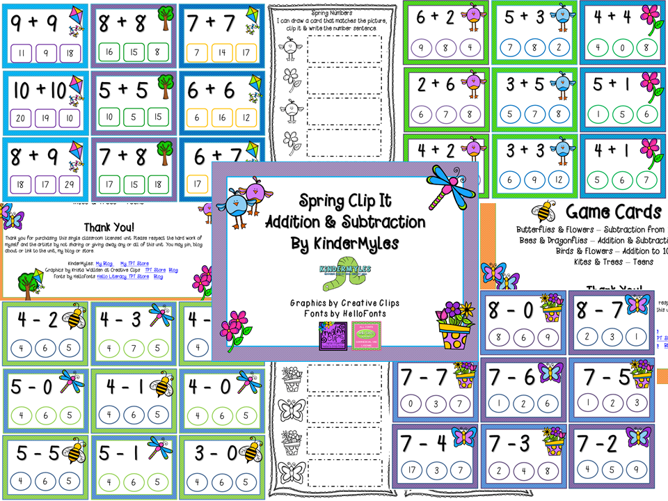 KinderMyles: Spring Things Math For April