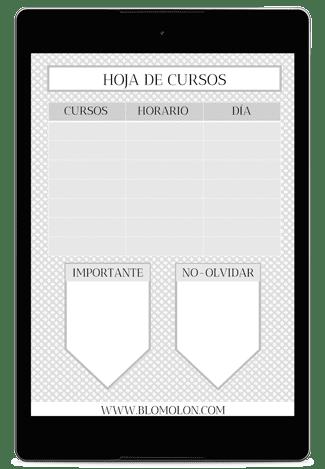 HOJA DE CURSOS 3