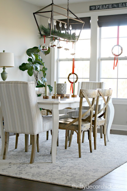 white table wood chairs