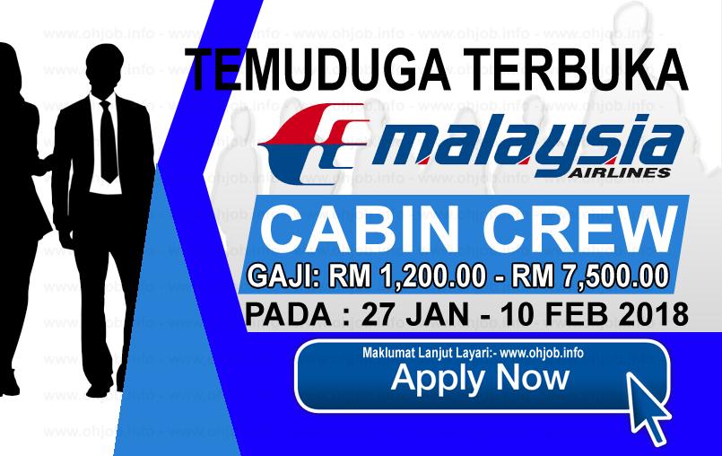 Jawatan Kerja Kosong Malaysia Airlines Berhad logo www.ohjob.info februari 2018