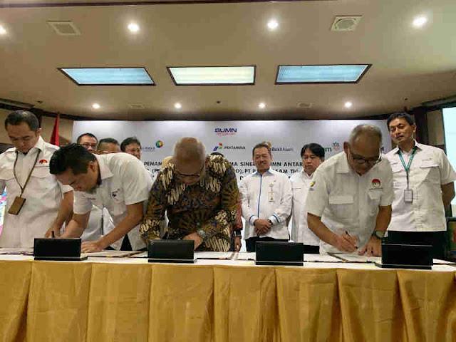 Pertamina, Inalum, Angkasa Pura dan Garuda Indonesia Perkuat Kemitraan
