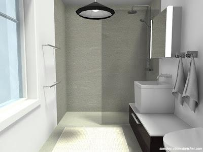 37 Model Kamar Mandi Sempit Rumah Minimalis Sederhana