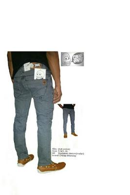 celana jeans skinny pria abu