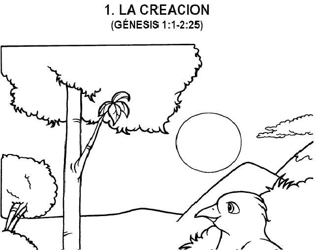 Dibujo De La Creacion Para Colorear Dibujos Cristianos Para Colorear