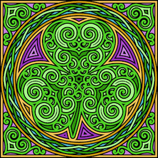 Shamrock coloring page- blank available in jpg and png format
