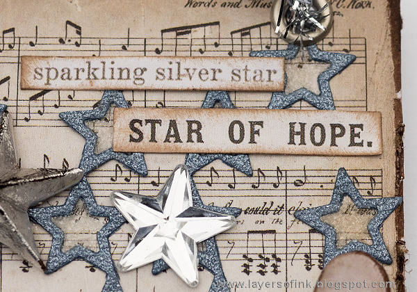 Layers of ink - Sparkling Silver Star Christmas Ornament by Anna-Karin Evaldsson with SSS Stacked Stars