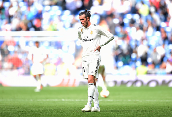 Gareth Bale of Real Madrid looks dejected after the match during the La Liga match between Real Madrid CF and Levante UD at Estadio Santiago Bernabeu on October 20, 2018 in Madrid, Spain