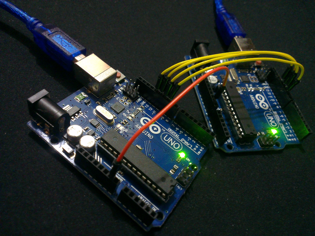 Arduino-er: Communication betweeen Arduinos using SPI