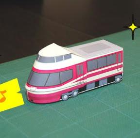 Maqueta 3D de una locomotora japonesa modelo Hise. Manualidades a Raudales.