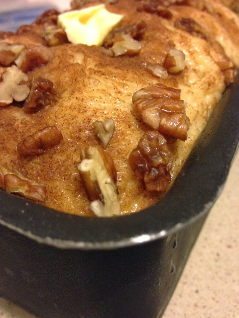 sweet kwisine, brioche, cannelle, raisins, noix de pécan, petit déjeuner, moelleuse