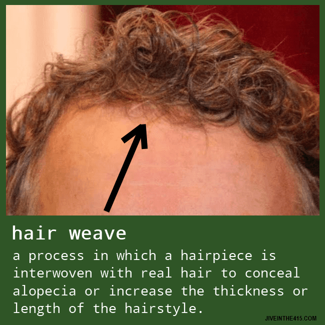 A hair weave and a wig are one and the same, and Senator Rand Paul (R-KY) is a perfect example.