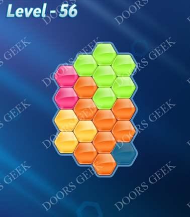 Block! Hexa Puzzle [5 Mania] Level 56 Solution, Cheats, Walkthrough for android, iphone, ipad, ipod
