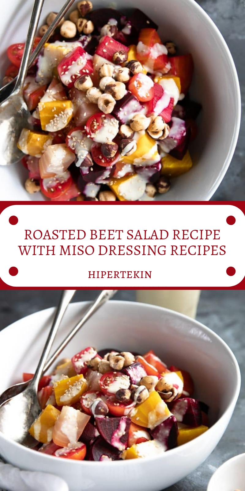 ROASTED BEET SALAD RECIPE WITH MISO DRESSING RECIPES